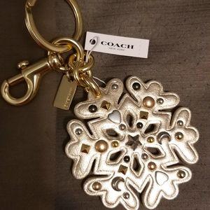 Snowflake Coach Key Charm